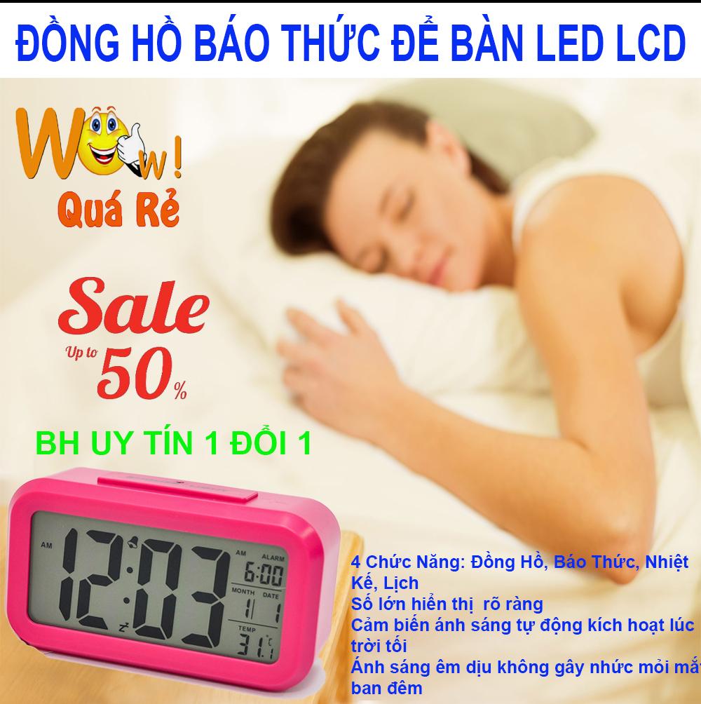 Nơi bán Đồng hồ báo thức lcd alarm clock , Dong ho bao thuc led - CHỌN NGAY Đồng hồ để bàn LCD Led HD51 HL1010 Đa chức năng, Thiết kế tinh xảo loại Cao cấp; MẪU HN- 98, Giảm sốc NGAY TRONG HÔM NAY 50%, Bảo hành uy tín 1 đổi 1 Sp
