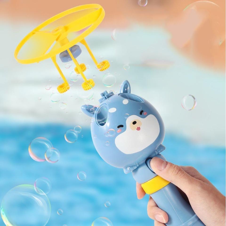 Đồ chơi cây thổi bong bóng xà phòng kèm chong chóng bay thiết kế hiện đại hoạt hình ngộ nghĩnh 11