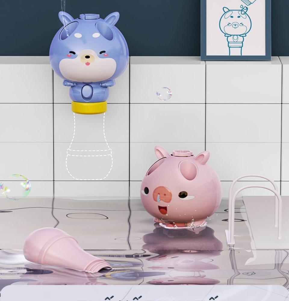 Đồ chơi cây thổi bong bóng xà phòng kèm chong chóng bay thiết kế hiện đại hoạt hình ngộ nghĩnh 9