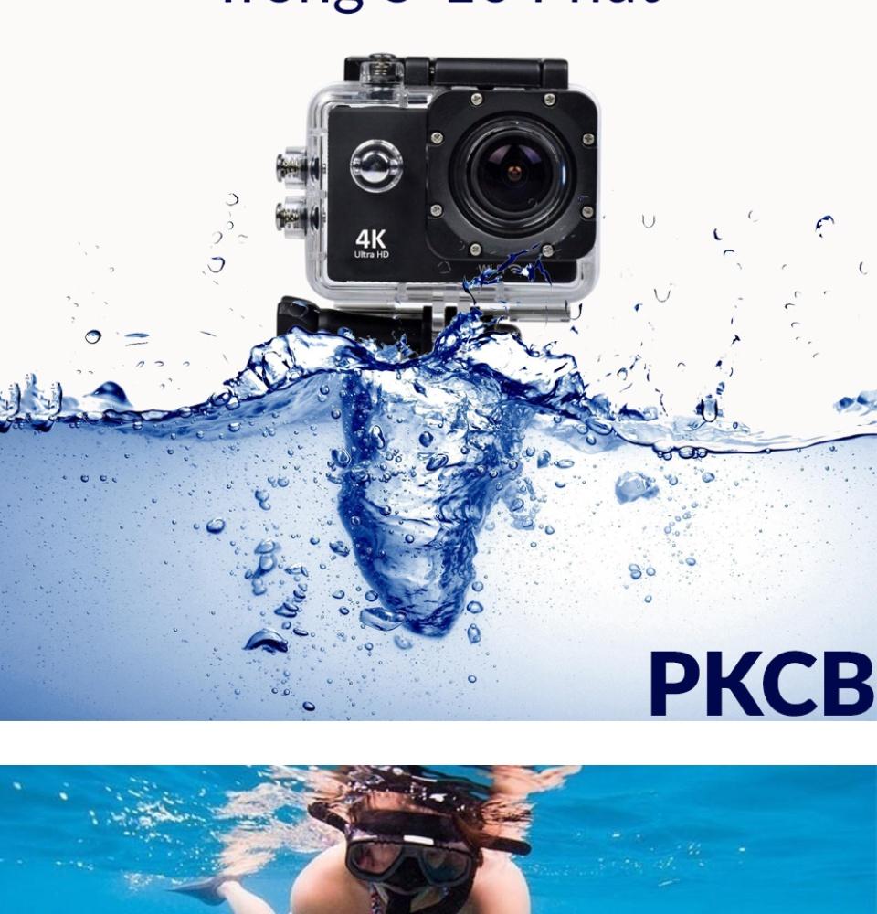 Camera 4K Ultra HD hành trình xe máy Camera phượt thể thao kết nối Wifi chống nước chống rung có remote Aurum 16 2