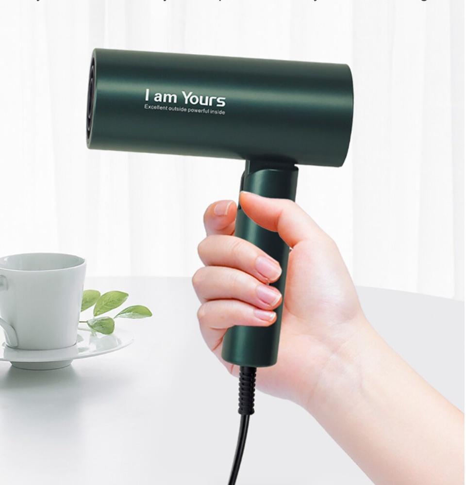 Máy sấy tóc ion YOURS 1300W cao cấp, sấy khô nhanh, màu sắc âu mỹ, gập nhỏ  tiện lợi, bảo vệ tóc mượt, kiểu dáng nhỏ, dễ xếp gọn vào túi