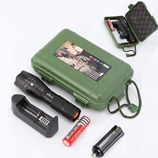 Bảng giá Đèn Pin Siêu Sáng 5 chế độ chiếu xa trăm mét T6 - Đèn Pin P0lice XML T6 - Bộ Sản phẩm đầy đủ gồm Thân đèn, Pin Sạc, Bộ Sạc,dụng cụ xài pin AAA, đồ bảo vệ Pin, 1 hộp đựng chắc chắn