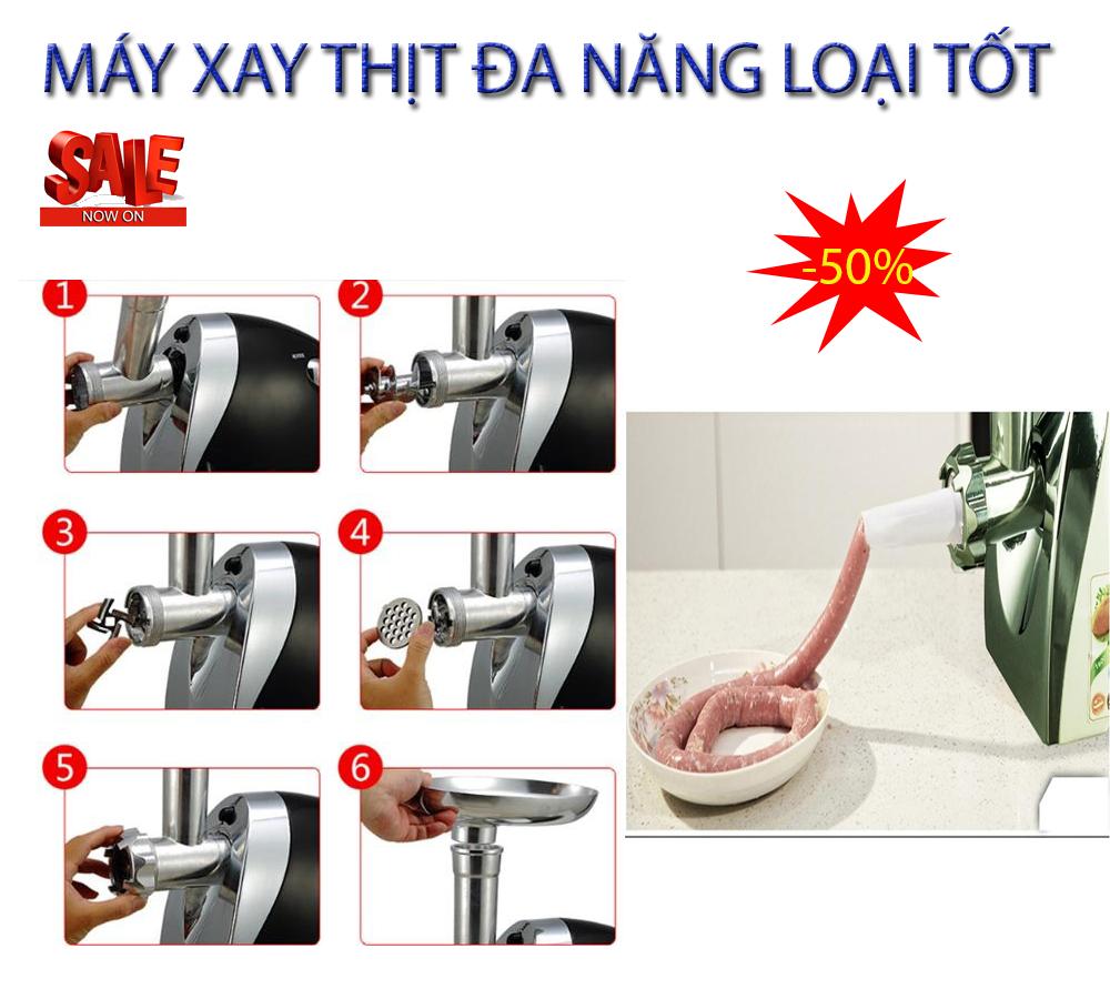 May Xay Thit Lam Cha Lua - BỘ MÁY XAY THỊT ĐA NĂNG ST, 3 Chế độ lưỡi dao xay với nhiều công năng tiên tiến, Model Y10-250, Giảm sốc 50%, Bảo hành 1 đổi 1 trên Toàn Quốc