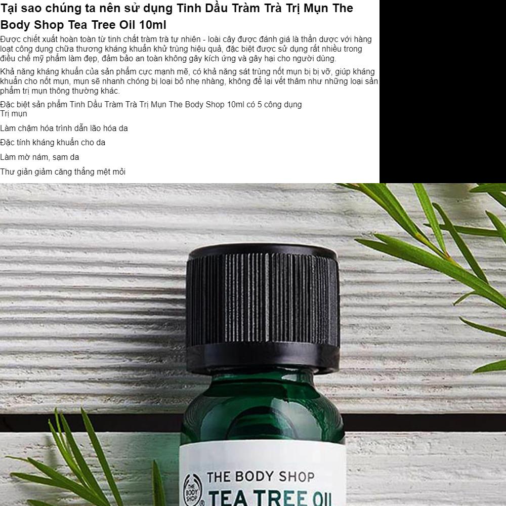 Tinh Du Trm Tr Mn The Body Shop Tea Tree Oil 10ml Serum Sos Farmasiserum Cp Tc Farmasitea C Tt Khngtea Shoptea