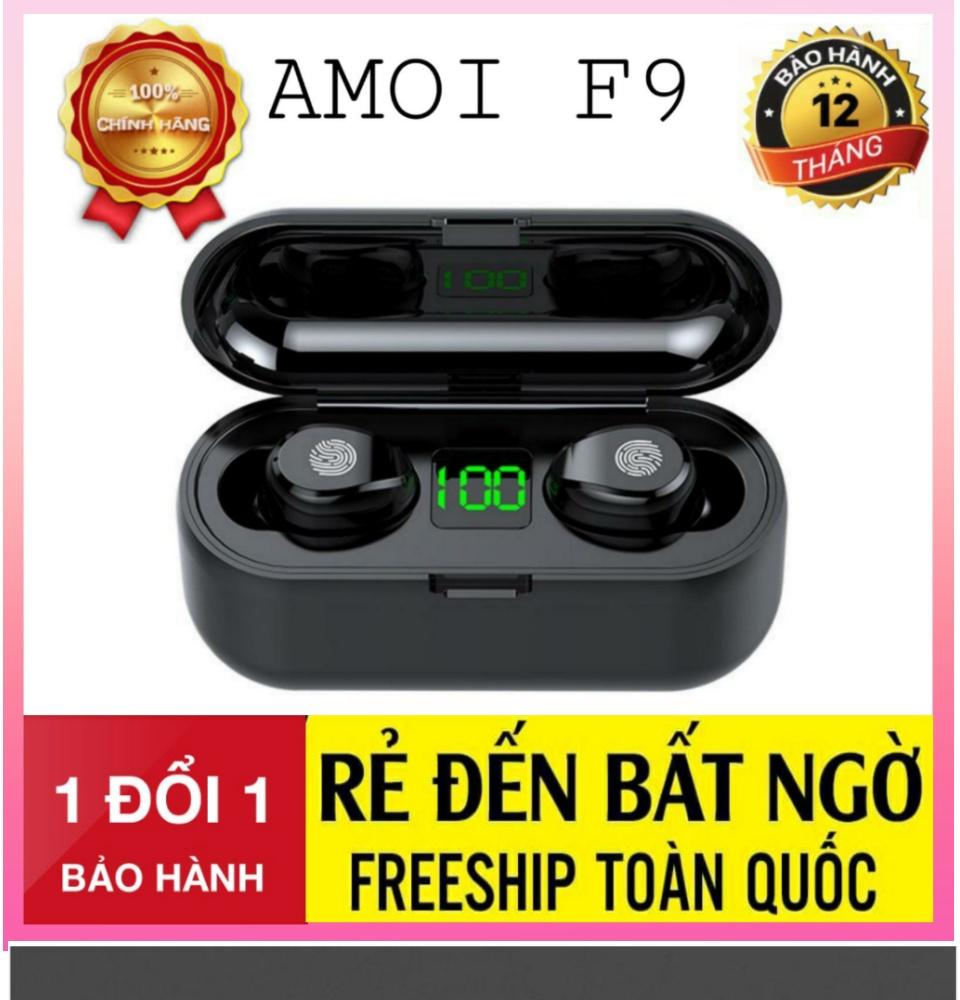 Tai Nghe Bluetooth Amoi F9 Bản Pro Quốc Tế Chip 5.0 , Chống Nước , Nút Cảm Ứng - Tai Nghe Bluetooth Amoi F9, Tai Nghe Bluetooth Nhét Tai Cho mọi dòng máy - Tai nghe buetooth không dây 1