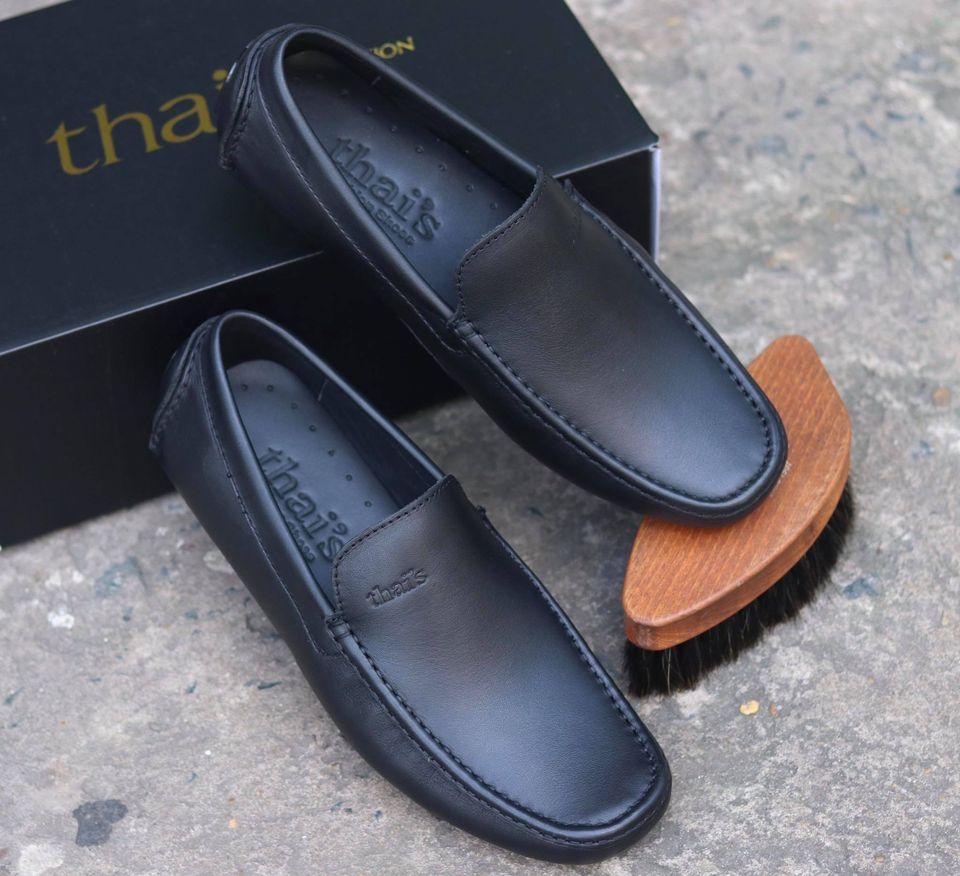 Giày mọi nam da bò thật - Giày mọi Thái Lan - Giày da công sở, giày nam đẹp TH001 (Ảnh 4)