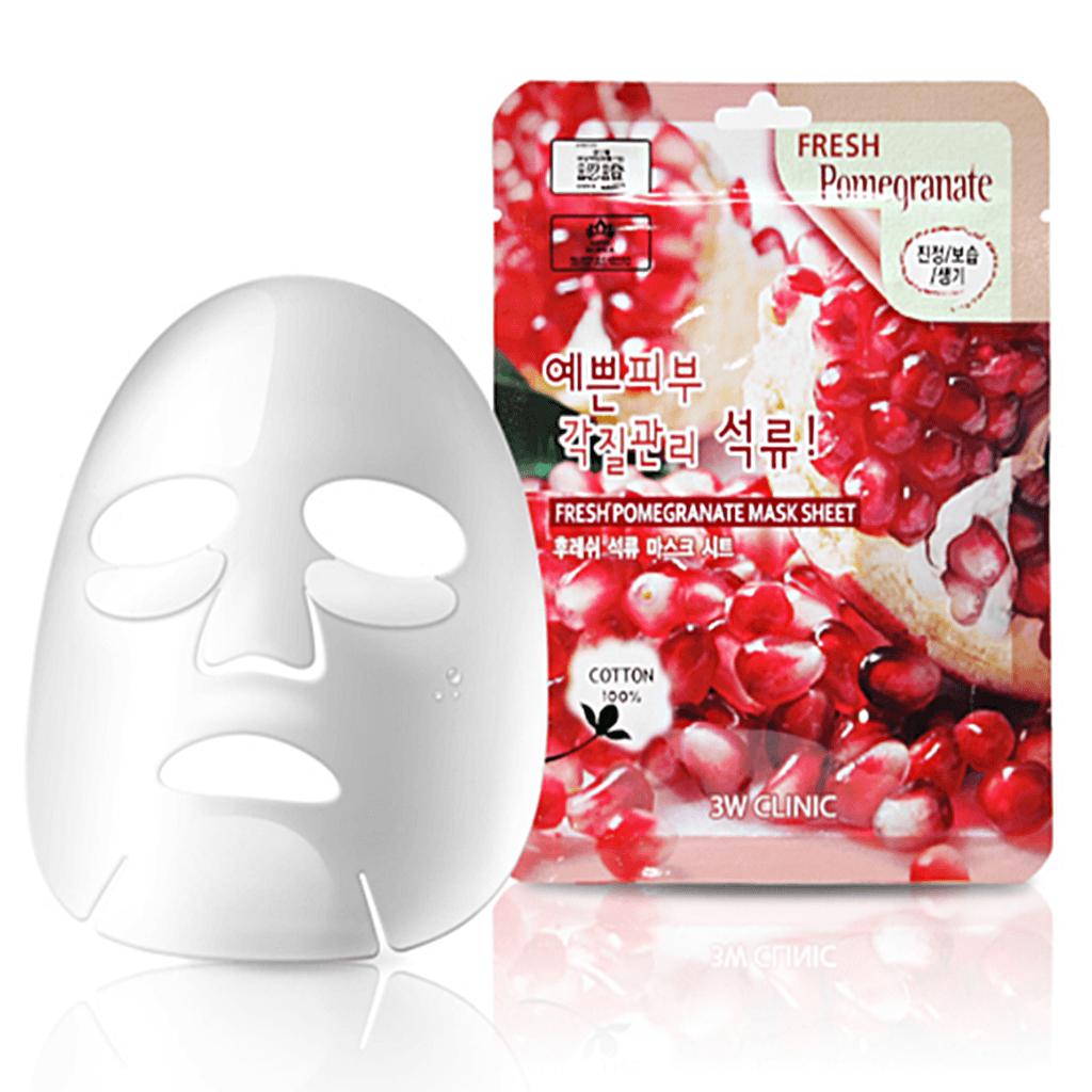 Mặt nạ chiết xuất lựu 3W Clinic Fresh Pomegranate Mask Sheet 23ml ...