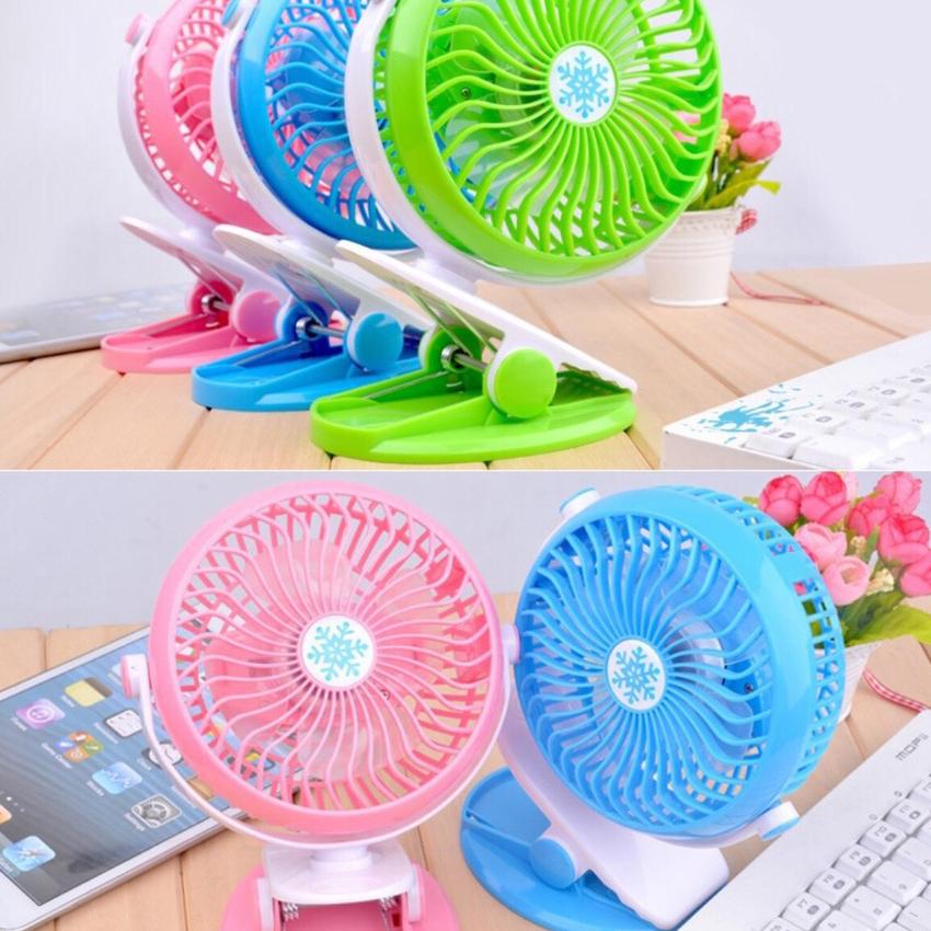 Quạt sạc mini xoay góc 720 độ, đế kẹp đa năng hoặc đặt bàn, an toàn cho trẻ với 4 nấc điều chỉnh gió (2500mAh) . UY TÍN CHẤT LƯỢNG TẠI LUCKY STORE SG