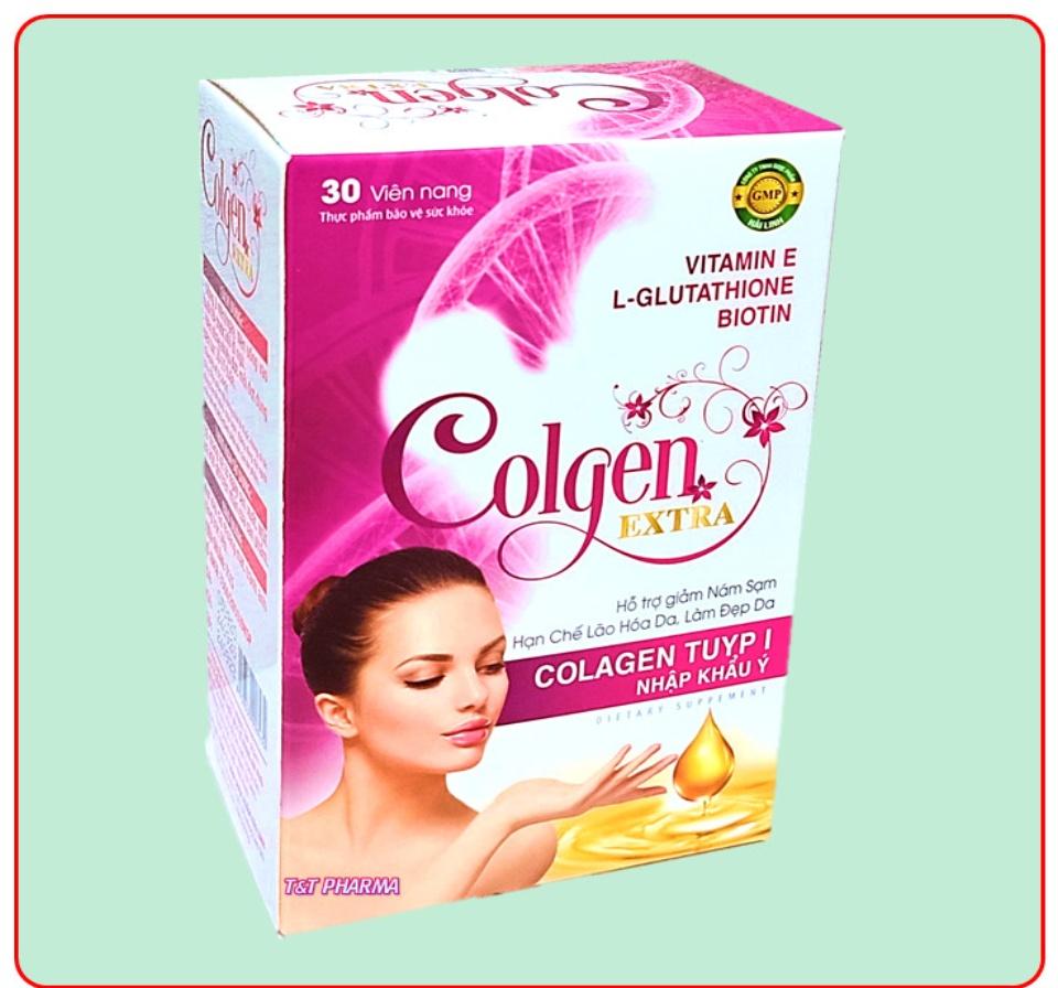 Viên uống đẹp da Colgen Extra- Thành phần Maca, Glutathione 400mg, Colagen tuyp I Nhập Khẩu Ý- Hộp 30 viên 9