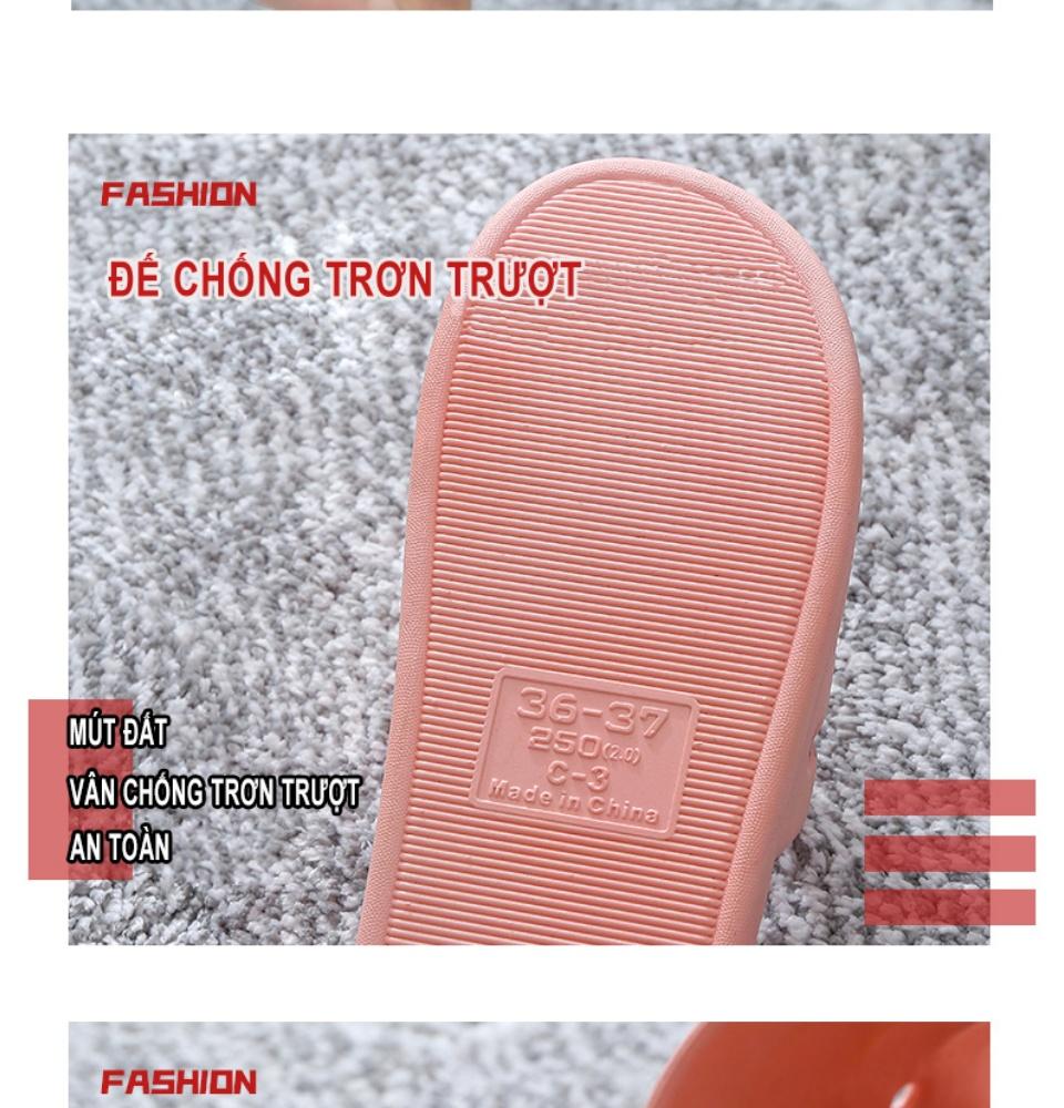 Dép nam nữ đi trong nhà KS01, chất liệu nhựa mềm cao cấp, đúc nguyên khối, đế mềm thoải mái chống trơn trượt phù hợp đi trong nhà, nhà tắm và ngoài trời - DOZIMAX STORE 7