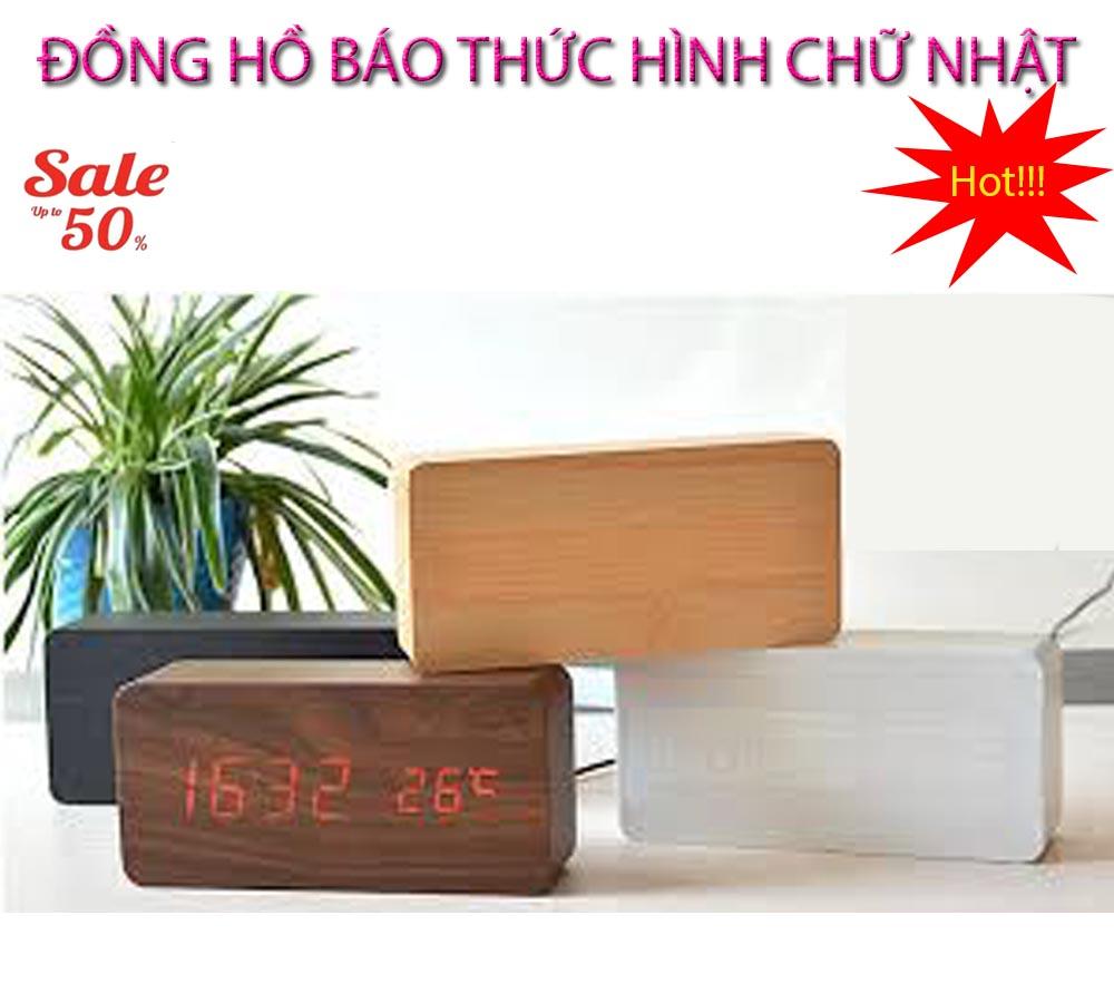 Dong ho bao thuc , Đồng hồ báo thức - CHỌN NGAY ĐỒNG HỒ BÁO THỨC Hình Chữ Nhật Thế Hệ Mới, Model AL-1295-131, Giảm Sốc 50%, Bảo Hành 1 đổi 1 SP bán chạy