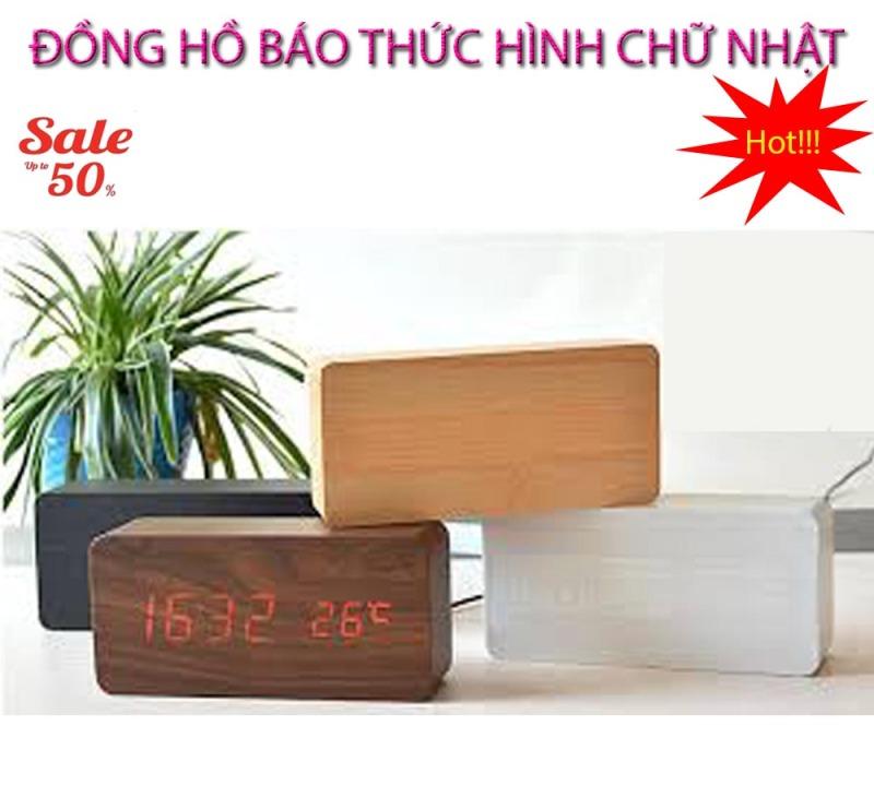 Đồng hồ báo thức biết chạy , Dong ho bao thuc - CHỌN NGAY ĐỒNG HỒ BÁO THỨC Hình Chữ Nhật Thế Hệ Mới, Model AL-1295-99, Giảm Sốc 50%, Bảo Hành 1 đổi 1 SP bán chạy