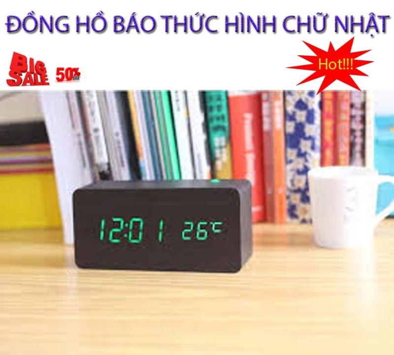 Tai bao thuc , Tai dong ho bao thuc - CHỌN NGAY ĐỒNG HỒ BÁO THỨC Hình Chữ Nhật Thế Hệ Mới, Model AL-1295-228, Giảm Sốc 50%, Bảo Hành 1 đổi 1 SP bán chạy