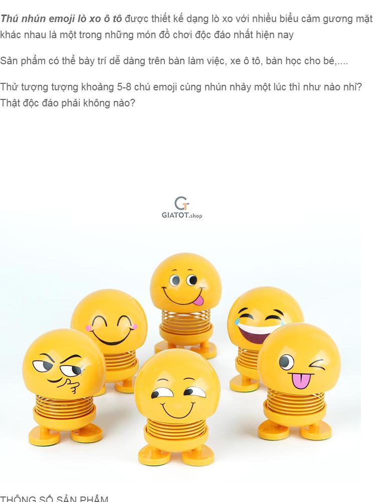 CMOBO 6 Thú Nhún Emoji con lắc lò xo con nhún 1