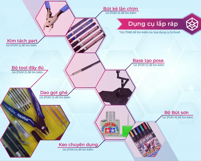 Dụng cụ và phụ kiện phục vụ lắp ráp - Box8