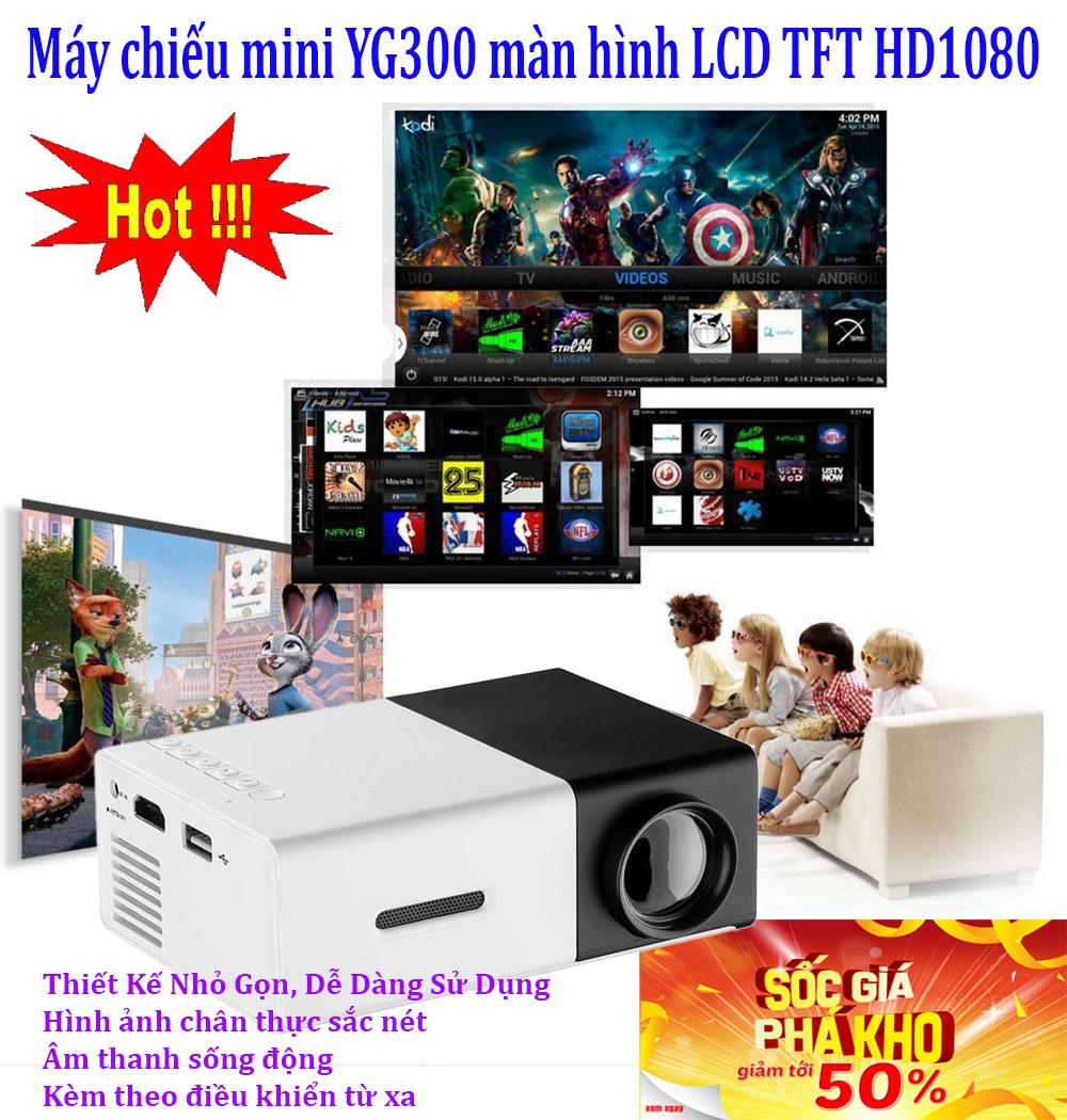 Máy chiếu bao nhiêu tiền , May chieu benq đắt hơn sản phẩm này - CHỌN NGAY MÁY CHIẾU MINI YG-300 Màn Hình Full HD 1080p, Nhỏ gọn tiện lợi (Phiên bản quốc tế)- MẪU GH-168, Giảm sốc NGAY TRONG HÔM NAY 50%, bảo hành uy tín 1 đổi 1 Sp