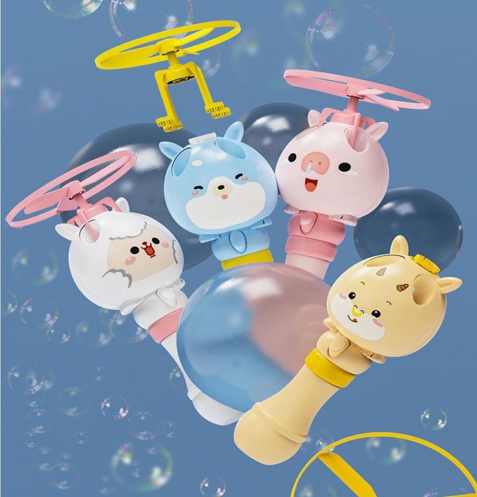 Đồ chơi cây thổi bong bóng xà phòng kèm chong chóng bay thiết kế hiện đại hoạt hình ngộ nghĩnh 4