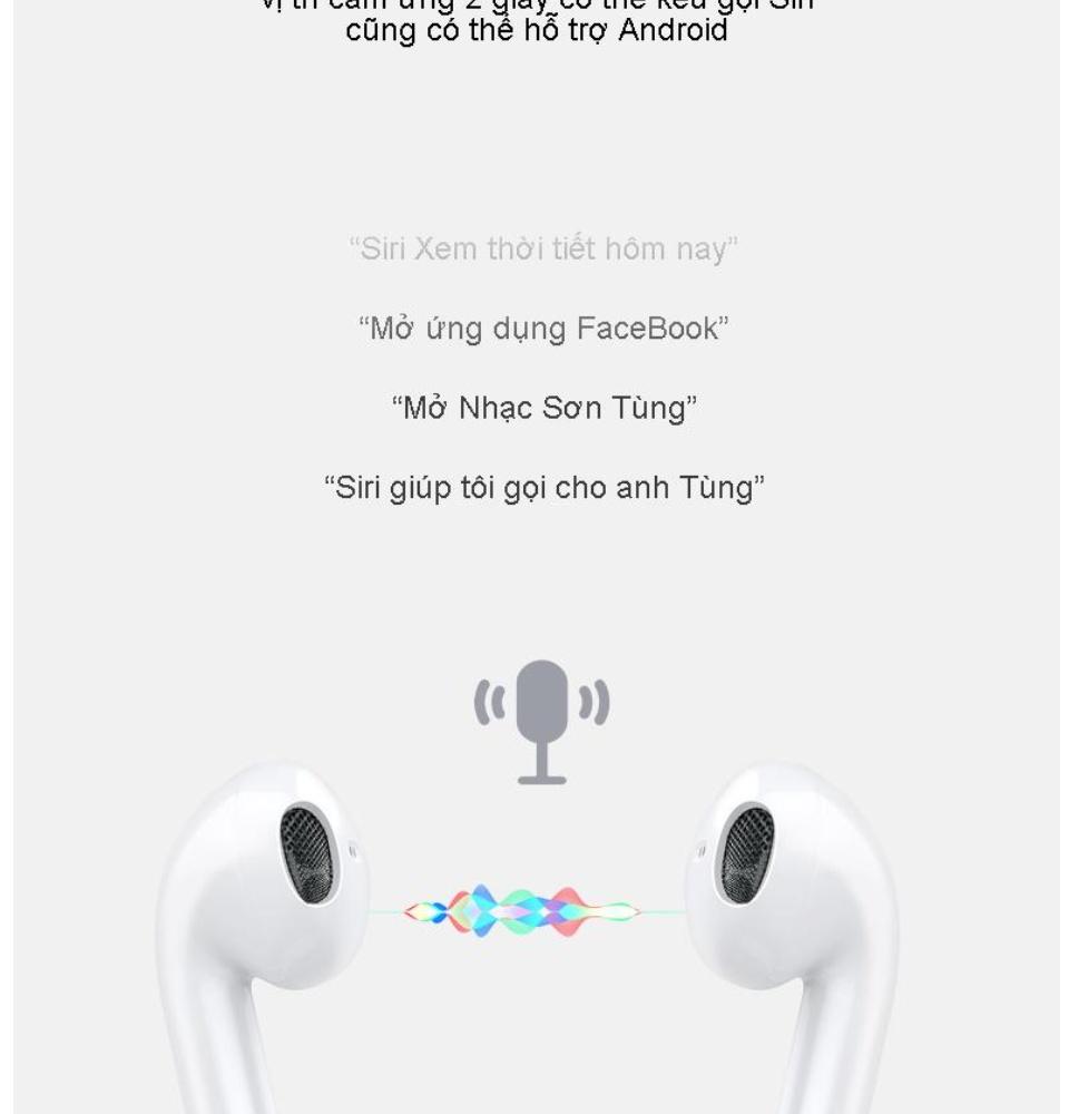 Tai Nghe Bluetooth i12S Nút Cảm Ứng Chip Pro 5.0 Cửa Sổ Kết Nối Pin Trâu , Tai Nghe Bluetooth Mini Không Dây, Tai nghe Bluetooth Không Dây, Tai nghe nhạc hay 10