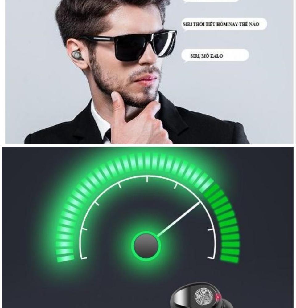 Tai Nghe Bluetooth Amoi F9 Bản Pro Quốc Tế Chip 5.0 , Chống Nước , Nút Cảm Ứng - Tai Nghe Bluetooth Amoi F9, Tai Nghe Bluetooth Nhét Tai Cho mọi dòng máy - Tai nghe buetooth không dây 7