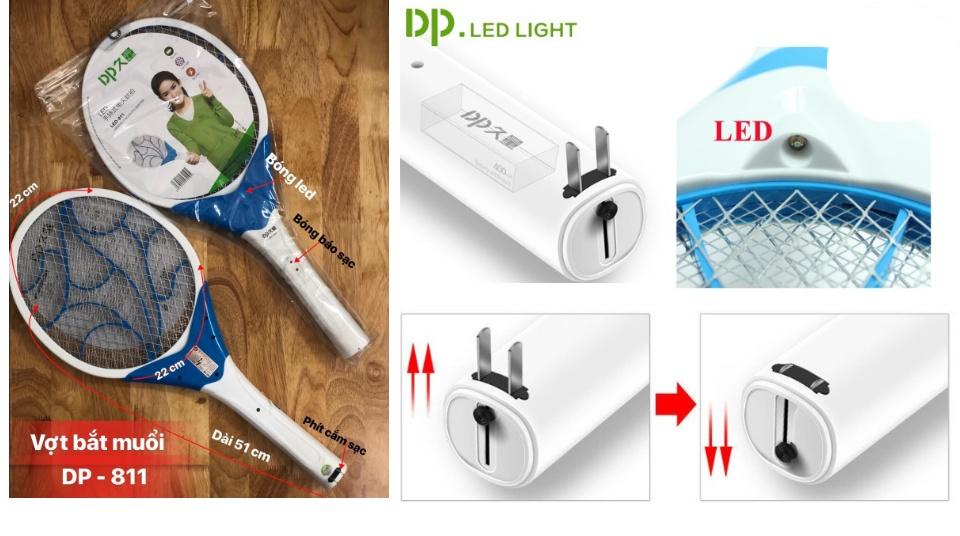 Vợt Diệt Muỗi Điện Tử DP LED-811 LOẠI TỐT - Màu ngẫu nhiên   Lazada.vn