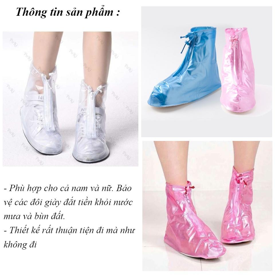 Giày đi mưa dáng bệt không ngấm nước thông minh chống trượt siêu bền 3