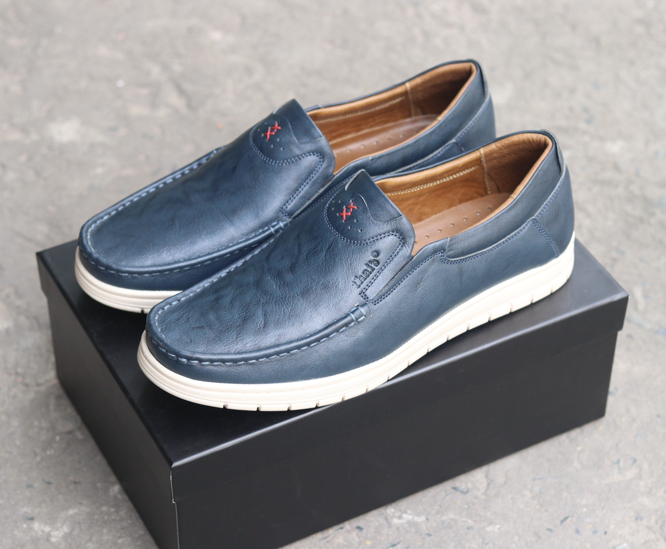 Giày lười da Thái Lan đẹp sang trọng TH04 (Ảnh 3)
