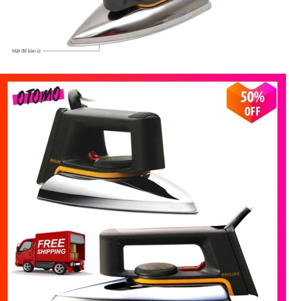 [Hot Sale 50%] Bàn ủi Philips HD1172 Cao Cấp Công Suất Lớn 1000W-Bàn ủi  Philips Điện Máy Xanh Nhập Khẩu Dễ Dàng Sử Dụng An Toàn.