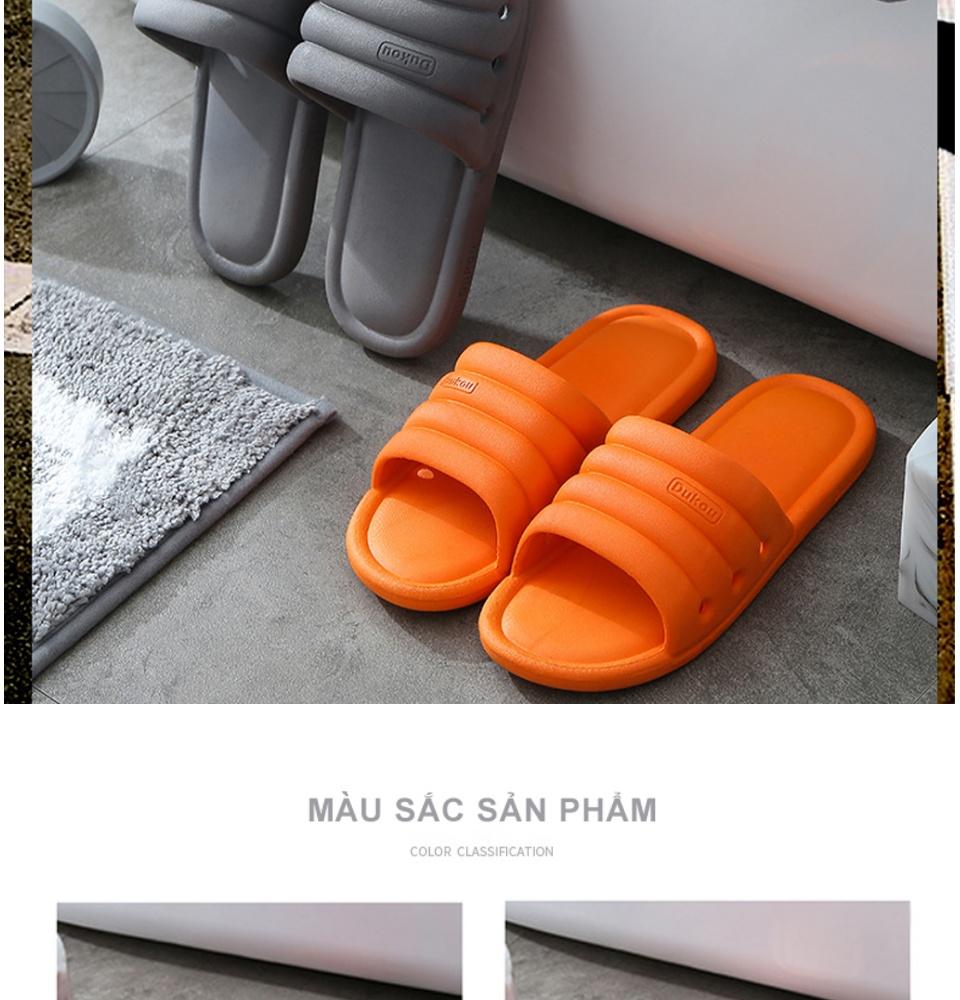 Dép nam nữ đi trong nhà KS01, chất liệu nhựa mềm cao cấp, đúc nguyên khối, đế mềm thoải mái chống trơn trượt phù hợp đi trong nhà, nhà tắm và ngoài trời - DOZIMAX STORE 16