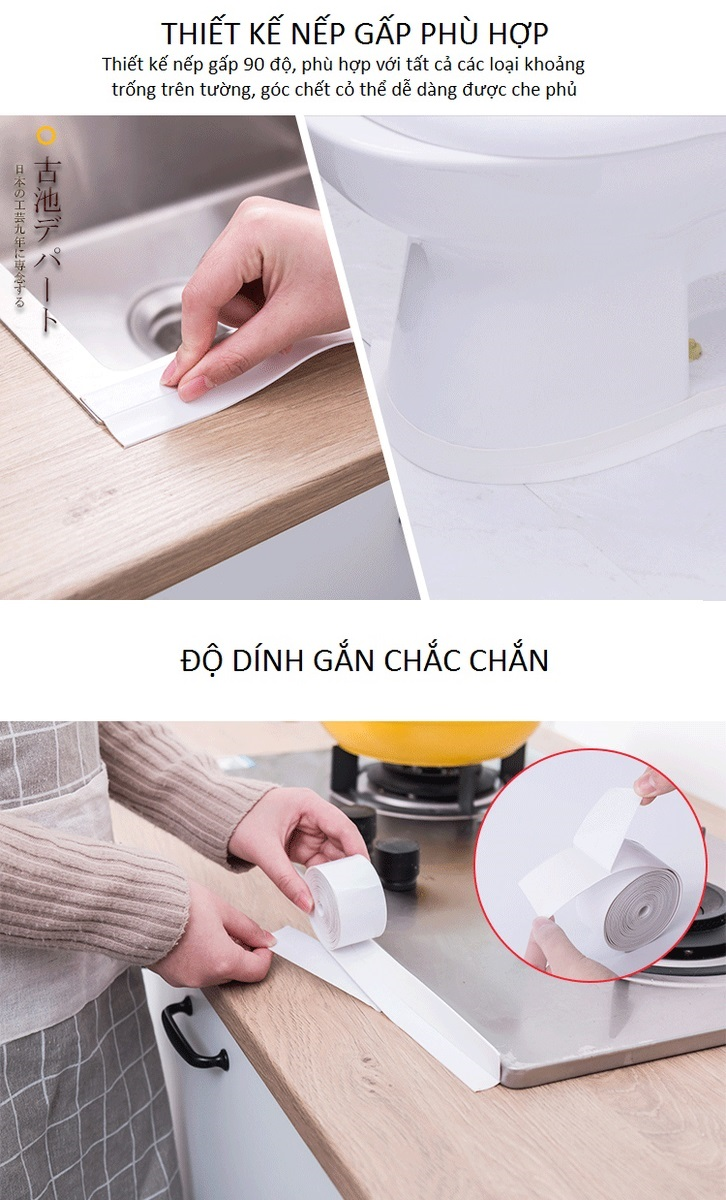 Băng keo chống thấm KINBATA Nhật Bản-Băng Keo Dán Chống Thấm Nước Trong Bếp, Nhà Vệ Sinh 2