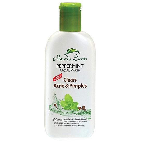 Sữa rửa mặt trị mụn cho nam Peppermint Facial Wash 100ml - SRMN001