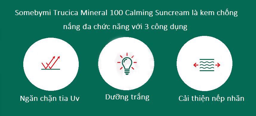 Kết quả hình ảnh cho some by mi truecica mineral 100 calming suncream spf50+/pa+++