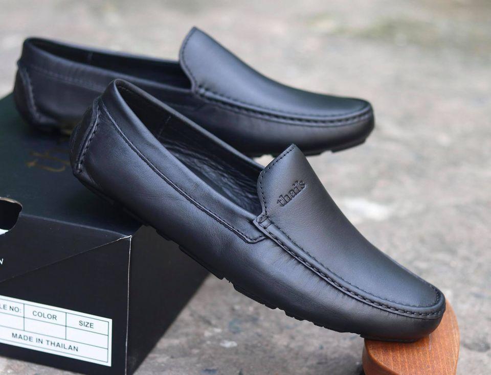 Giày mọi nam da bò thật - Giày mọi Thái Lan - Giày da công sở, giày nam đẹp TH001 (Ảnh 1)