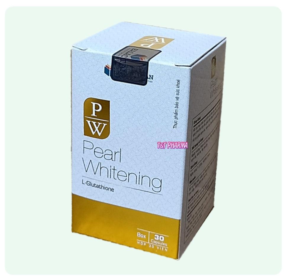 Viên Uống Trắng Da Toàn Thân Pearl Whitening- Với thành phần L-Glutathion,L-cystine Giúp trắng da, mờ nám, tàn nhang- hộp 30 viên 4