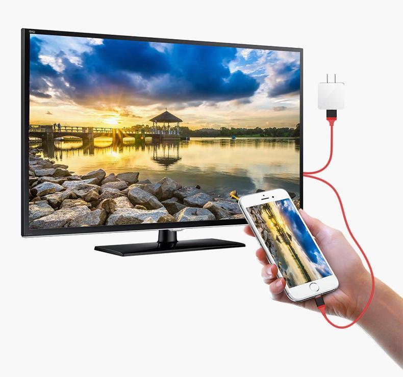 Dây kết nối Cao cấp giữa Tivi (cổng HDMI) với Iphone, Ipad (cổng Lightning) - Nối mạng cho Tivi nhà bạn Cáp MHL sang HDMI, HDTV kết nối điện thoại IOS với TV (iPhone 5 6 7 8 X - IOS 8-10-12) Cáp HDMI nối điện thoại với ti vi dùng cho Iphone [Thao2] Dũng 6