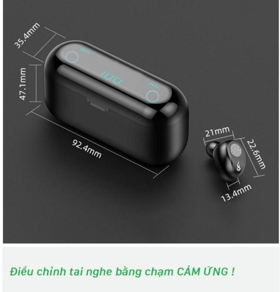 Tai Nghe Bluetooth Amoi F9 Bản Pro Quốc Tế Chip 5.0 , Chống Nước , Nút Cảm Ứng - Tai Nghe Bluetooth Amoi F9, Tai Nghe Bluetooth Nhét Tai Cho mọi dòng máy - Tai nghe buetooth không dây 2