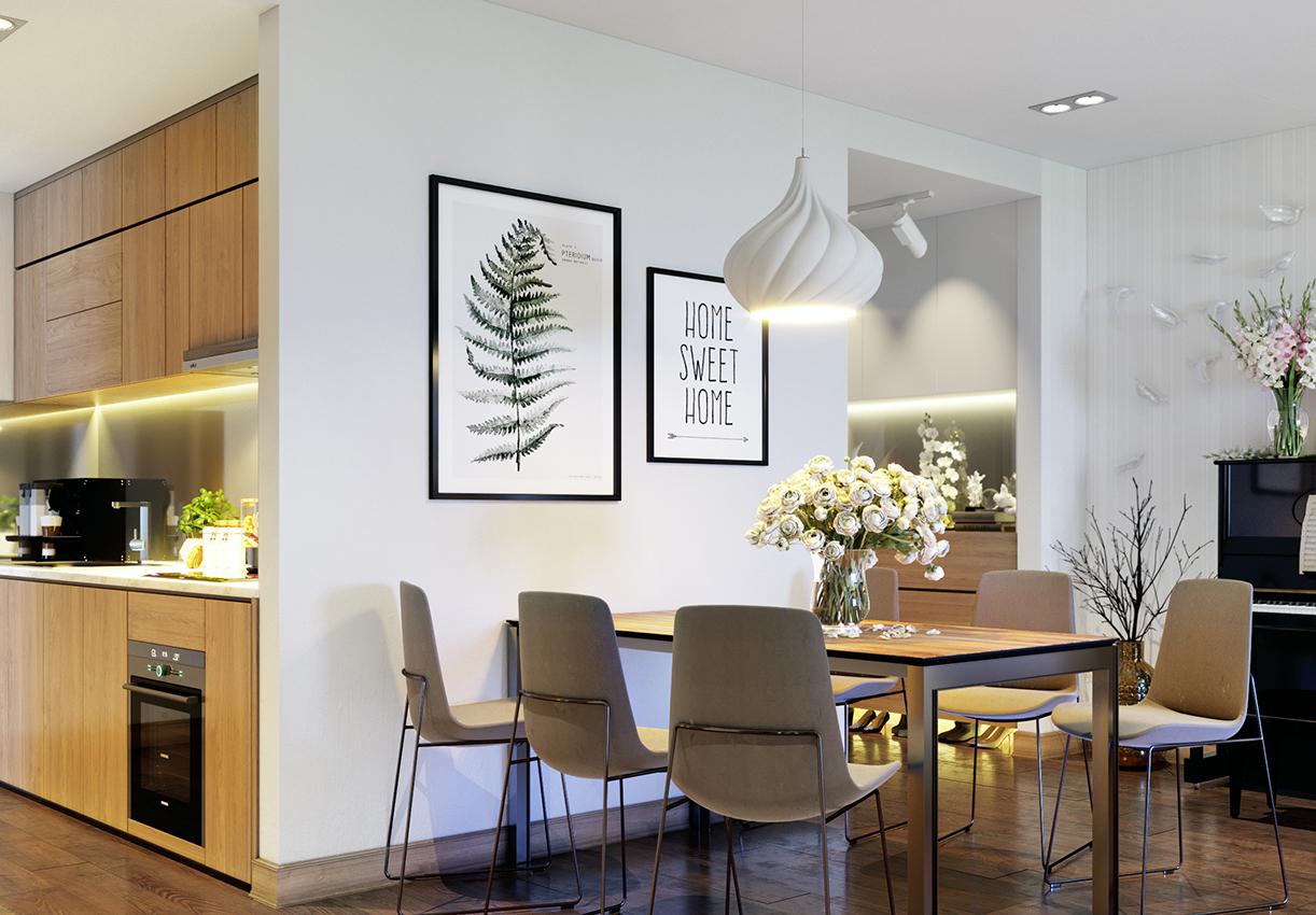 tranh treo tường canvas cho bếp ăn