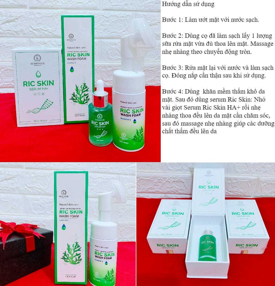 Combo Ric Skin làm sạch mụn, thâm nám, dưỡng trắng da 1