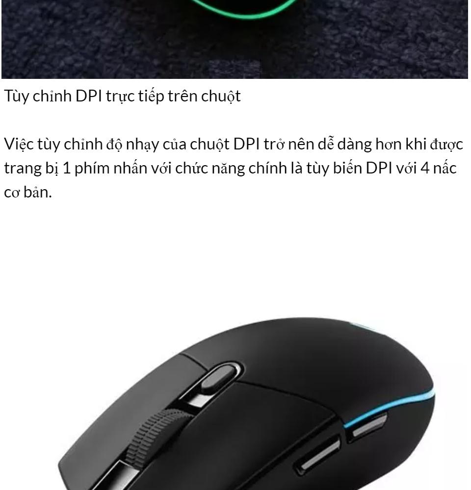 [HCM]Chuột Máy Tính Chuột Chơi Game Chuột game Logitech Có Dây G102 Prodigy RGB LED Hàng Cao Cấp.. 4