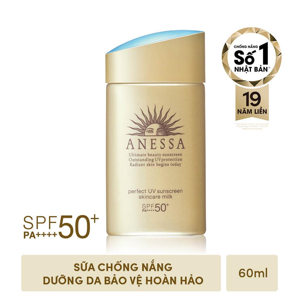 Kem chống nắng dạng sữa dưỡng da bảo vệ hoàn hảo Anessa Perfect UV Skincare Milk SPF 50+ PA++++ 60ml