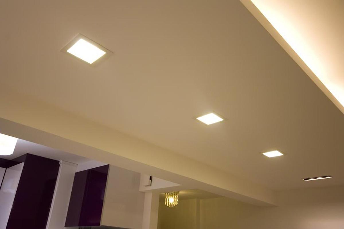 Đèn led panel âm trần 4W siêu mỏng ứng dụng chiếu sáng săn hộ