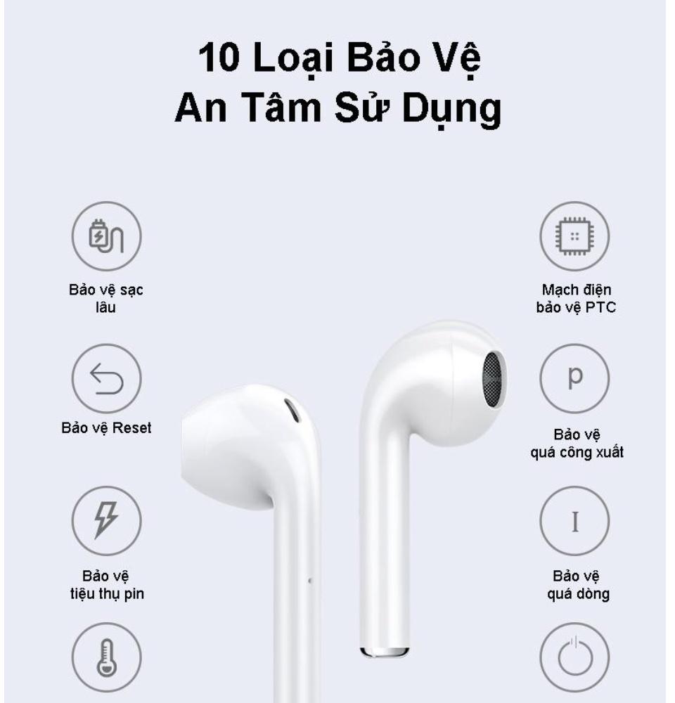 Tai Nghe Bluetooth i12S Nút Cảm Ứng Chip Pro 5.0 Cửa Sổ Kết Nối Pin Trâu , Tai Nghe Bluetooth Mini Không Dây, Tai nghe Bluetooth Không Dây, Tai nghe nhạc hay 4
