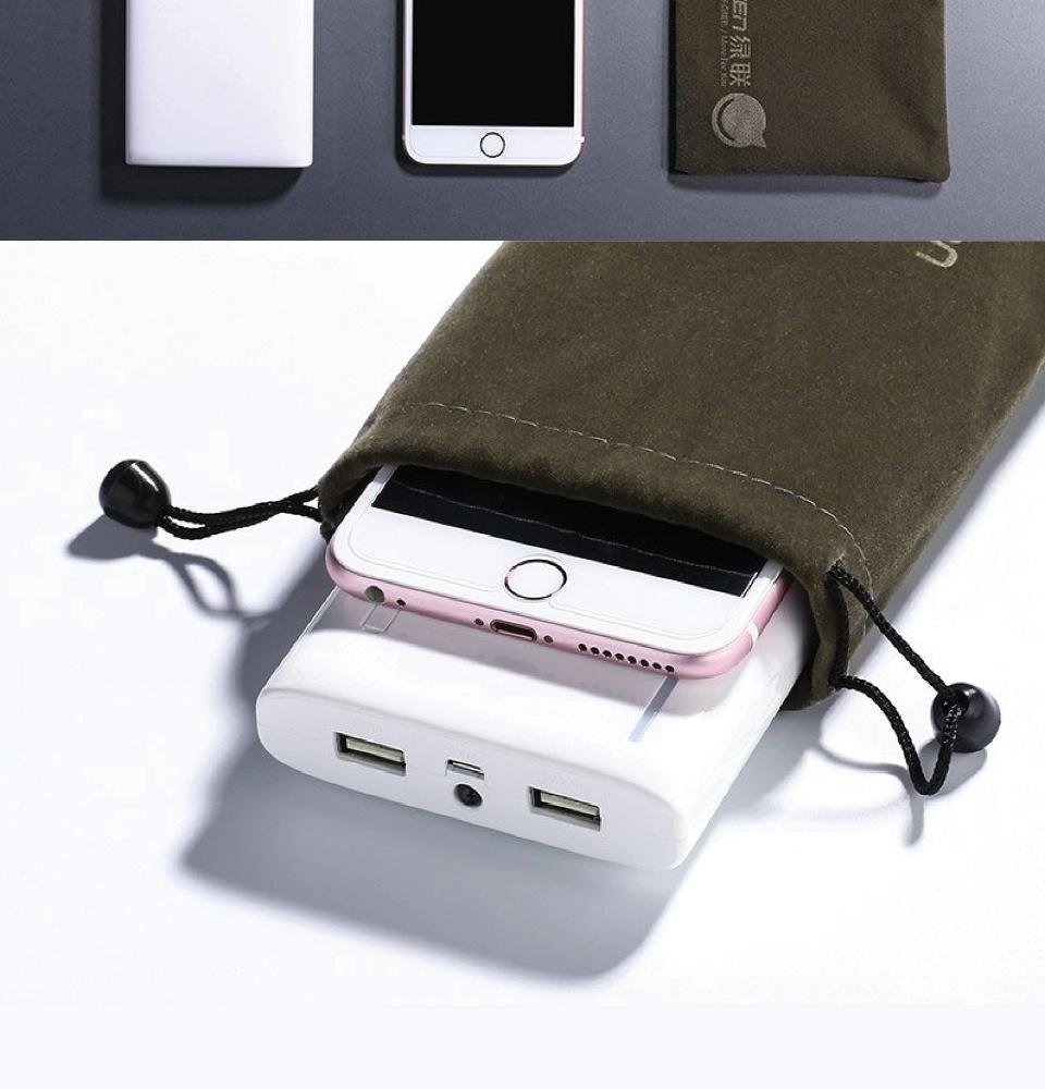 Túi đựng phụ kiện điện thoại, cáp sạc v.v có dây rút, kích thước 12x19cm Ugreen 20319 - Hàng chính hãng