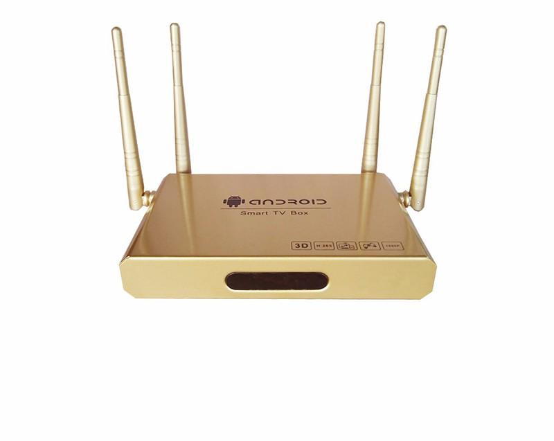 Thiết bị Smart tivi 4 anten vàng gold 1