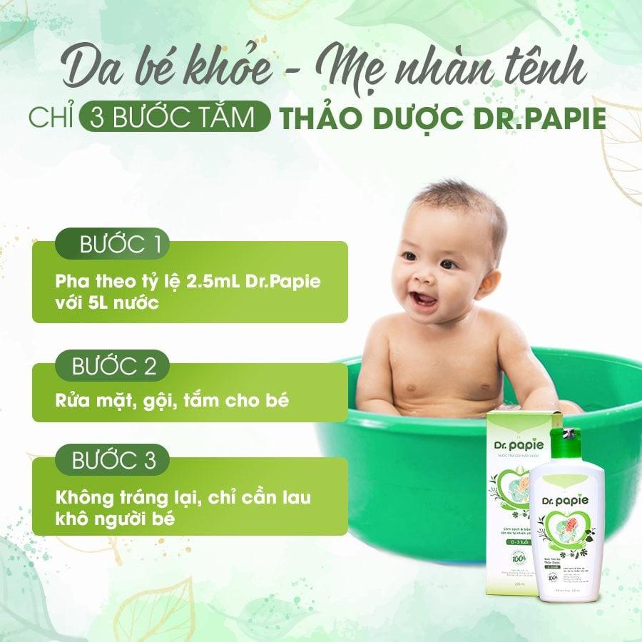 Combo 5 Lọ Nước Tắm Thảo Dược Dr Papie Cho Bé Giúp Ngăn Ngừa Và Giảm Các Vấn Đề Về Da:4934