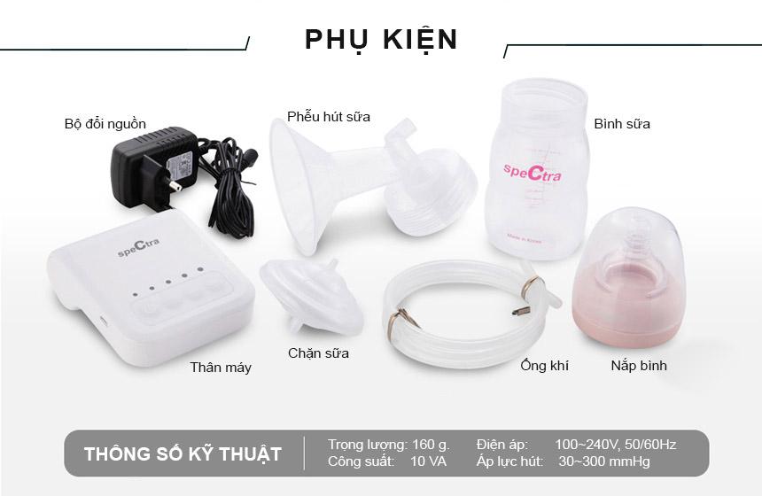 Bộ phụ kiện hút sữa cổ rộng SPECTRA  Hàn Quốc  28mm
