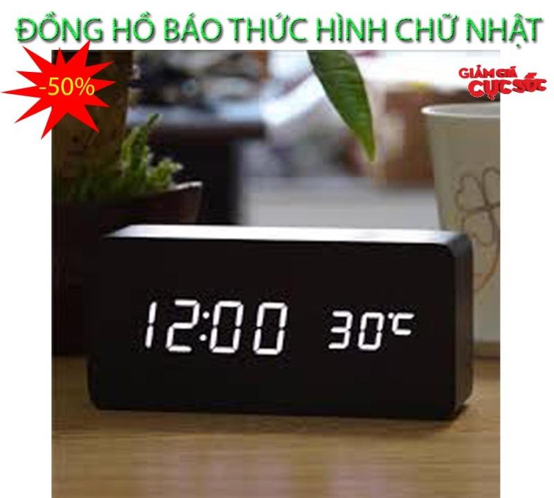 Đồng hồ radio báo thức , Dong ho vua bao thuc - CHỌN NGAY ĐỒNG HỒ BÁO THỨC Hình Chữ Nhật Thế Hệ Mới, Model AL-1295-184, Giảm Sốc 50%, Bảo Hành 1 đổi 1 SP bán chạy