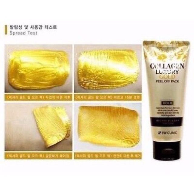 Mặt Nạ Vàng 3W Clinic Collagen Luxury Gold Peel Off Pack 100g ...