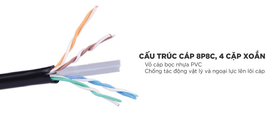 Thùng cáp mạng UGREEN bấm sẵn CAT6 24AWG dài 40m 11285 - Lõi đồng nguyên chất, hiệu suất đến 500 MHz
