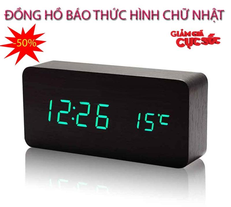 Đồng hồ báo thức radio , Dong ho bao thuc thong minh - CHỌN NGAY ĐỒNG HỒ BÁO THỨC Hình Chữ Nhật Thế Hệ Mới, Model AL-1295-151, Giảm Sốc 50%, Bảo Hành 1 đổi 1 SP bán chạy