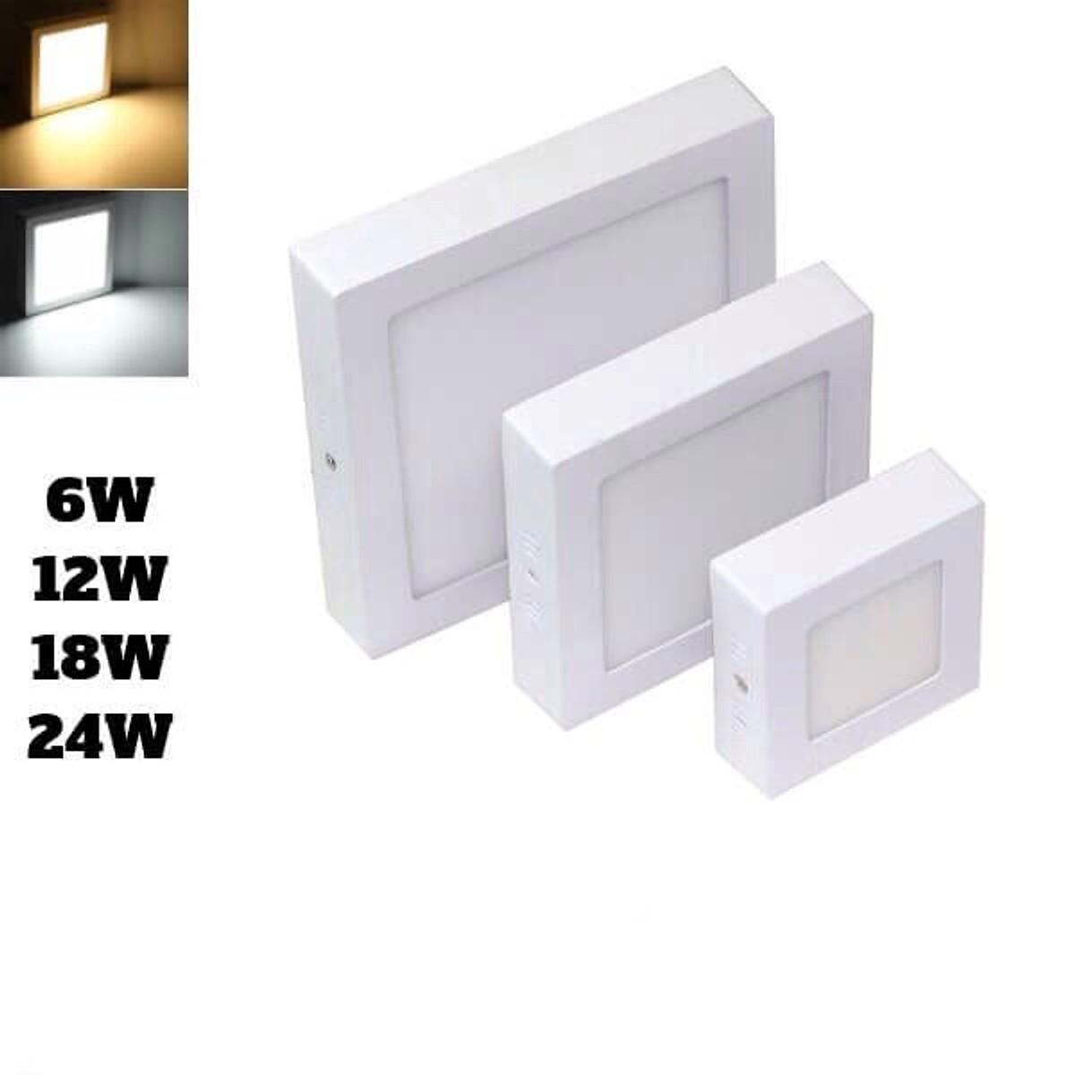 đèn panel ốp trần vuông với công suất 6w-12w-18w-24w